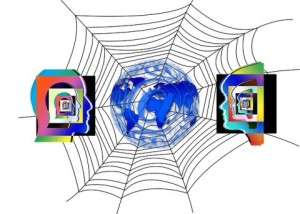 Brain injury in the 21st century. A web with two heads facing each other