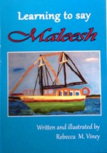 Cover image Learning to Say Maleesh by Rebecca Viney