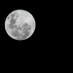 Liminal and Traumatic Brain Injury. Photo of dark sky and close up of full moon