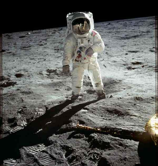 Long Term Memory Photograph of Buzz Aldrin on the moon surface