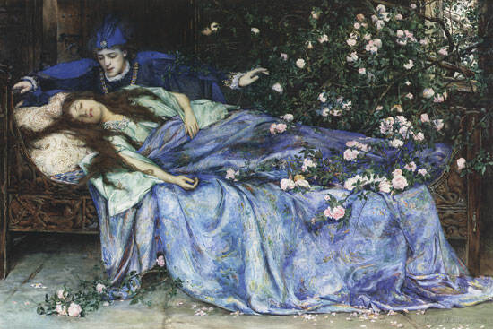 Painting of Sleeping Beauty illustrating Vegetative State and Unconsciousness