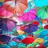 Many coloured umbrellas. Creativity and Brain Injury