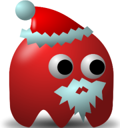 Celebrations after brain injury cartoon red game baddie santa