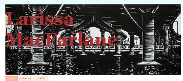 Header image of Larissa Macfarlanes Blogspot