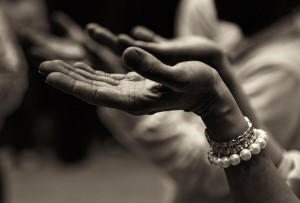 Parietal lobes Black and White photo of prayer hands
